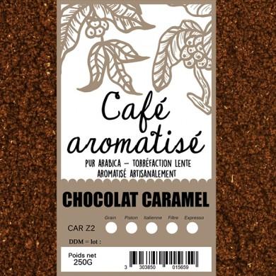 Café moulu chocolat caramel