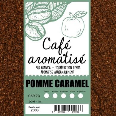 Café moulu pomme caramel