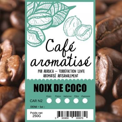 Café aromatisé Noix de coco grillée en grain
