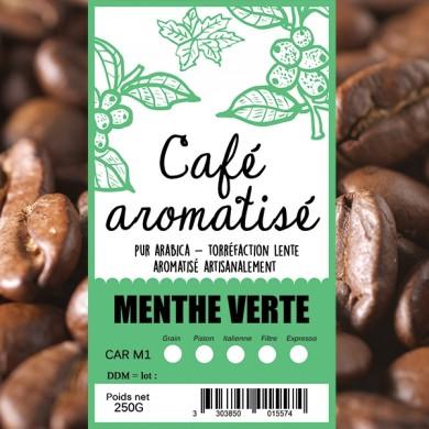 Café en grain menthe verte
