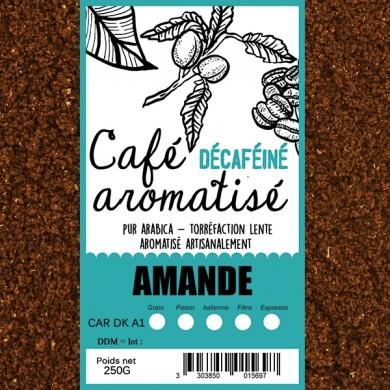café décafeiné aromatisé amande moulu