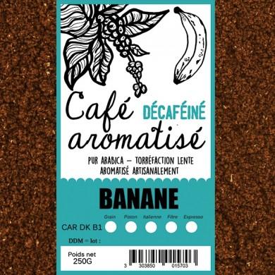 café décafeiné aromatisé banane moulu