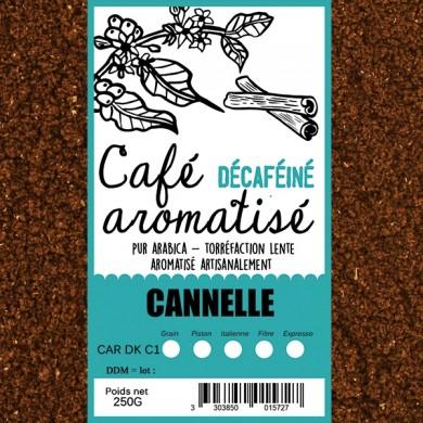 café décafeiné aromatisé cannelle moulu