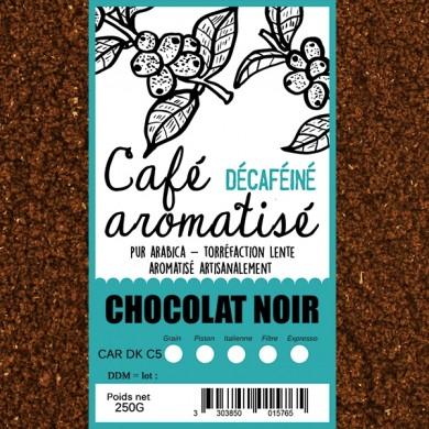 café décafeiné aromatisé chocolat moulu