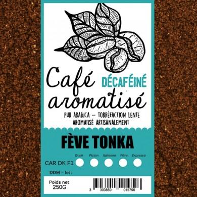 café décafeiné aromatisé fève tonka