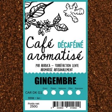 café décafeiné aromatisé gingembre
