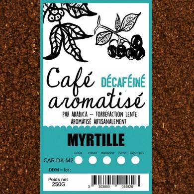 café décafeiné aromatisé myrtille