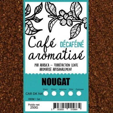 café décafeiné aromatisé nougat