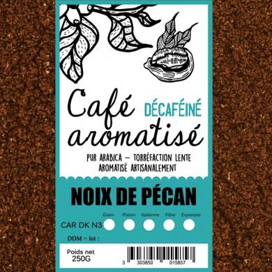 café décafeiné aromatisé noix de pecan moulu