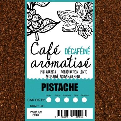 café décafeiné aromatisé pistache