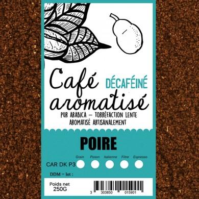 café décafeiné aromatisé poire