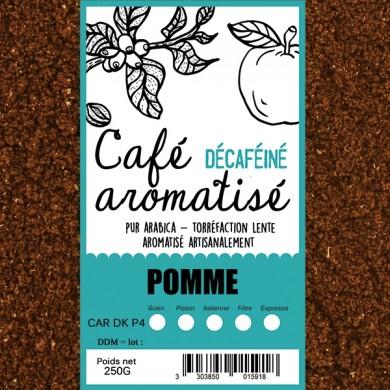café décafeiné aromatisé pomme