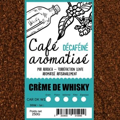 café décafeiné aromatisé crème de whisky