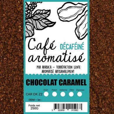 café décafeiné aromatisé choco caramel