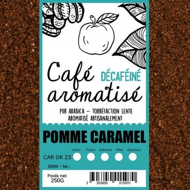 café décafeiné aromatisé pomme caramel