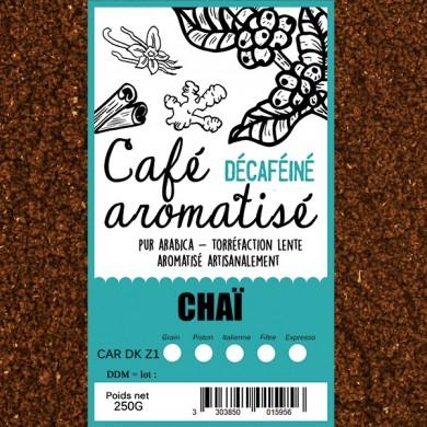 café décafeiné aromatisé chaï