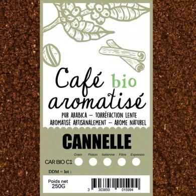 café biologique aromatisé cannelle moulu