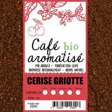 café moulu biologique aromatisé cerise