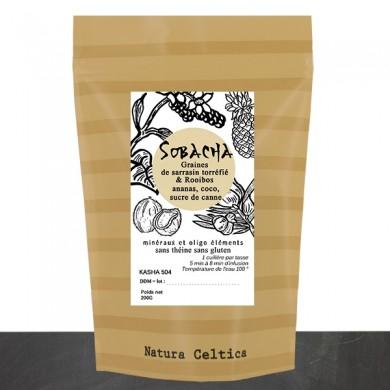 Sobacha : Infusion de sarrazin torréfié et de rooibos à l'ananas, noix de coco, sucre de canne