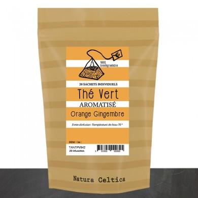thé vert gingembre zestes orange   20 pyramides P5
