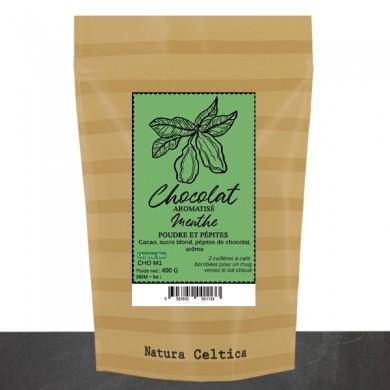 chocolat en poudre menthe verte