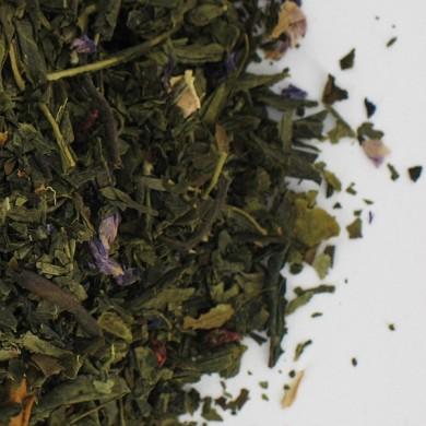 thé vert de chine papaye ananas framboise BIO