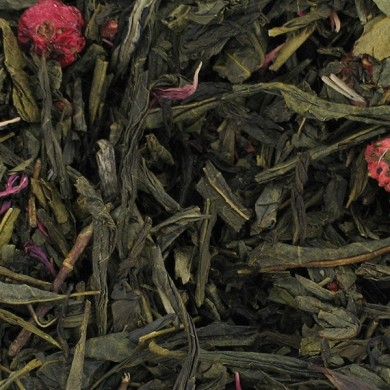 chinese green tea with rose petals cherry v6