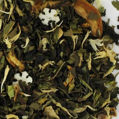 Thé vert de chine citron mûrier abricot buchu