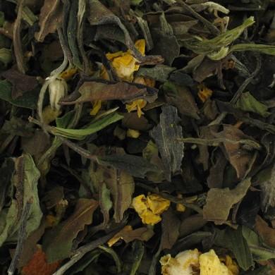Thé vert et blanc de chine orange