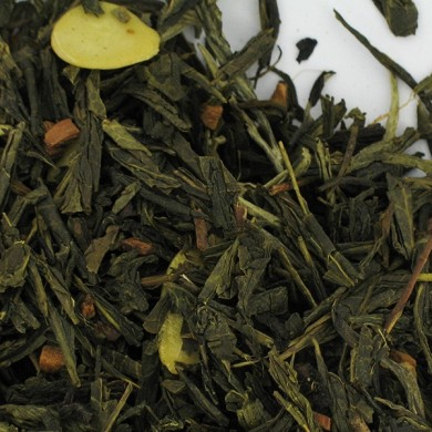 thé vert de chine orange vanille cannelle