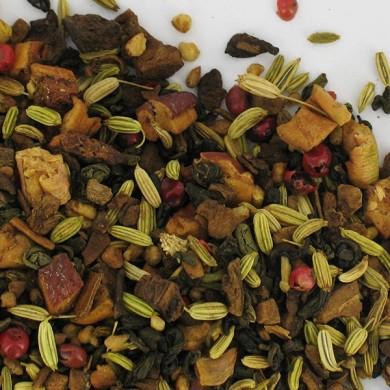 thé vert chaï cannelle pomme chicorée poivre fenouil