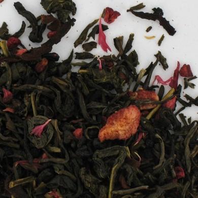 thé vert framboise fraise magnolia