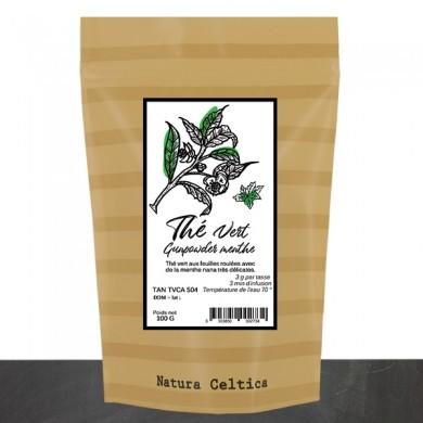 thé vert de chine gunpowder menthe
