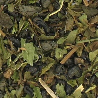 china gunpowder green tea mint v5