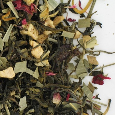 Thé blanc  fraise cassis mangue jasmin
