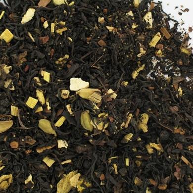 Thé noir blend corsé et épices : menthe, anis, cannelle, gingembre, réglisse, zeste d'orange BIO
