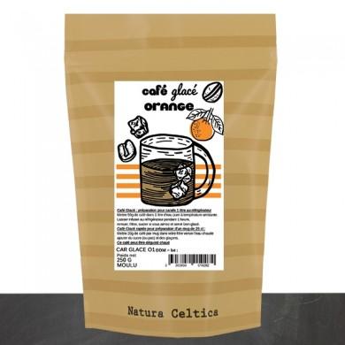 café glacé orange
