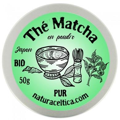 thé vert bio du japon matcha poudre  boite 50G.