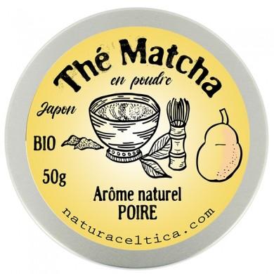 thé vert bio du japon matcha poire poudre  boite 50G.