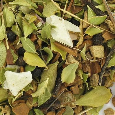 infusion feuille de buchu, aloe véra vanille, gingembre détox